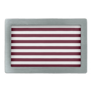 Thin Stripes - White and Dark Scarlet Belt Buckles