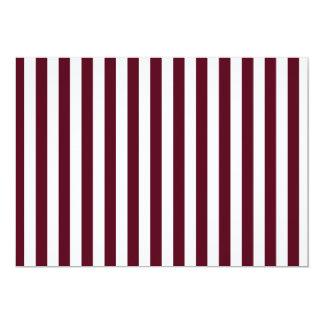 Thin Stripes - White and Dark Scarlet Card