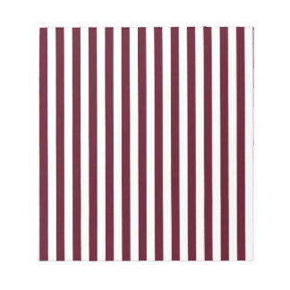 Thin Stripes - White and Dark Scarlet Notepad
