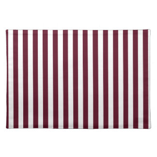 Thin Stripes - White and Dark Scarlet Placemat