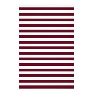 Thin Stripes - White and Dark Scarlet Stationery