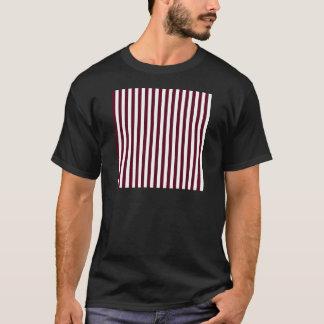 Thin Stripes - White and Dark Scarlet T-Shirt