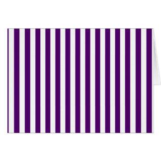 Thin Stripes - White and Dark Violet Card