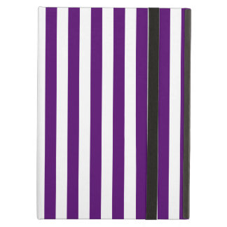 Thin Stripes - White and Dark Violet Cover For iPad Air