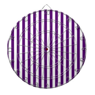 Thin Stripes - White and Dark Violet Dartboard