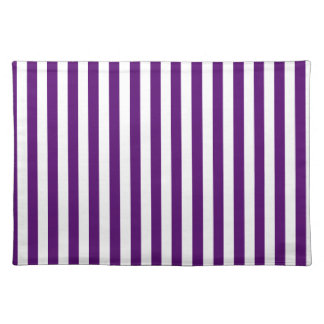 Thin Stripes - White and Dark Violet Placemat