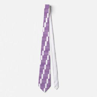 Thin Stripes - White and Dark Violet Tie