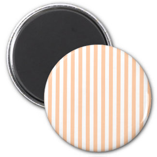 Thin Stripes - White and Deep Peach Magnet