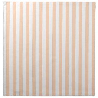 Thin Stripes - White and Deep Peach Napkin