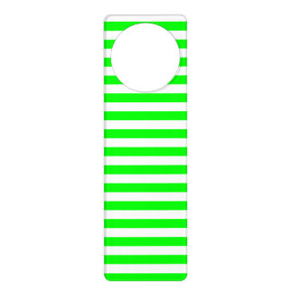 Thin Stripes - White and Electric Green Door Hanger