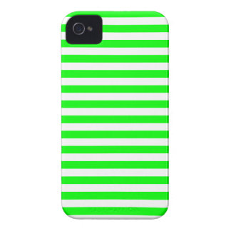 Thin Stripes - White and Electric Green iPhone 4 Cases