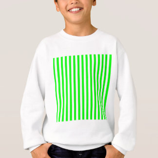 Thin Stripes - White and Electric Green Sweatshirt