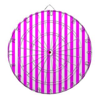 Thin Stripes - White and Fuchsia Dartboard