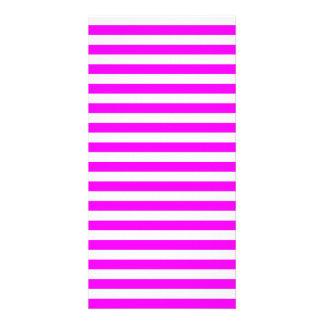 Thin Stripes - White and Fuchsia Photo Greeting Card