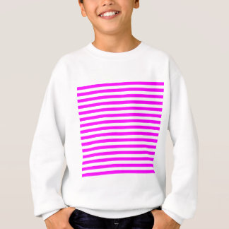 Thin Stripes - White and Fuchsia Sweatshirt