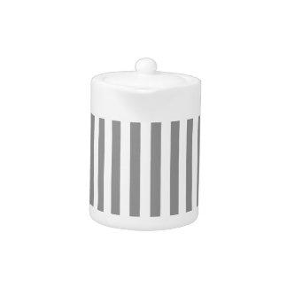 Thin Stripes - White and Gray