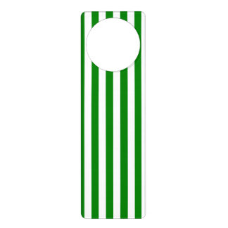 Thin Stripes - White and Green Door Hanger