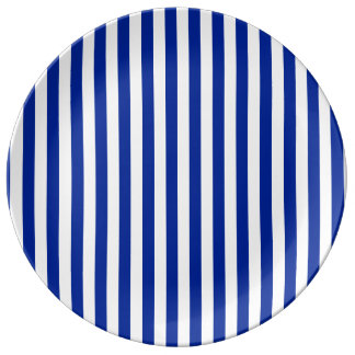 Thin Stripes - White and Imperial Blue Plate