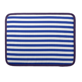 Thin Stripes - White and Imperial Blue Sleeve For MacBook Pro
