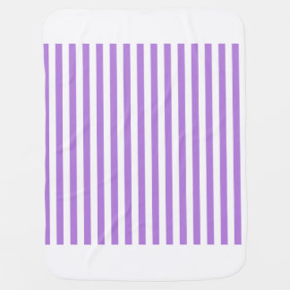 Thin Stripes - White and Lavender Baby Blanket