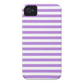 Thin Stripes - White and Lavender Case-Mate iPhone 4 Cases