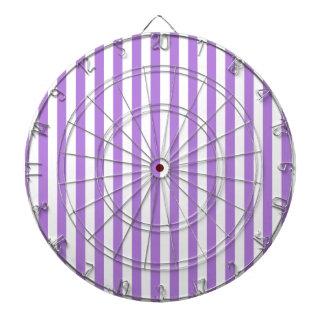 Thin Stripes - White and Lavender Dartboard