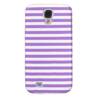 Thin Stripes - White and Lavender Galaxy S4 Cases