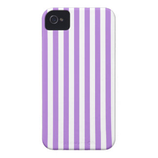 Thin Stripes - White and Lavender iPhone 4 Case