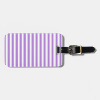 Thin Stripes - White and Lavender Luggage Tag