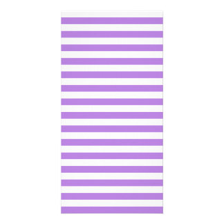 Thin Stripes - White and Lavender Photo Greeting Card