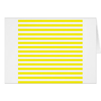 Thin Stripes - White and Lemon Greeting Card
