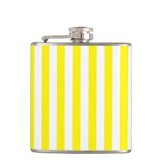 Thin Stripes - White and Lemon Hip Flask