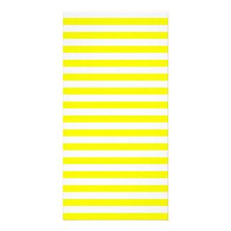 Thin Stripes - White and Lemon Photo Card