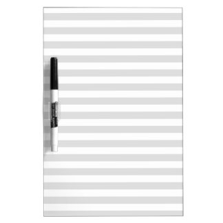 Thin Stripes - White and Light Gray Dry Erase Board
