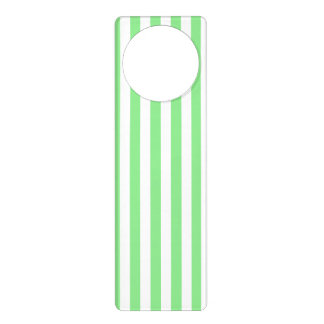 Thin Stripes - White and Light Green Door Hanger