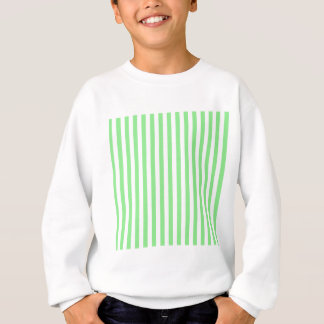 Thin Stripes - White and Light Green Sweatshirt