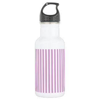 Thin Stripes - White and Light Medium Orchid 532 Ml Water Bottle