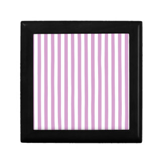 Thin Stripes - White and Light Medium Orchid Gift Box