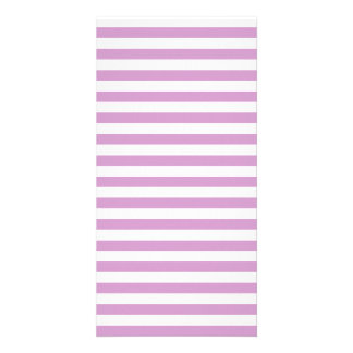 Thin Stripes - White and Light Medium Orchid Photo Cards
