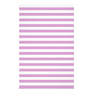 Thin Stripes - White and Light Medium Orchid Stationery