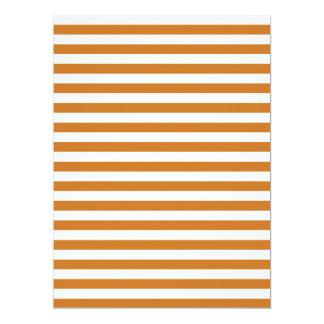 Thin Stripes - White and Ochre 17 Cm X 22 Cm Invitation Card