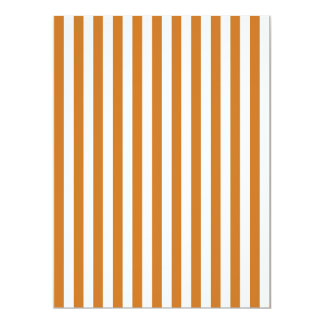 Thin Stripes - White and Ochre Card
