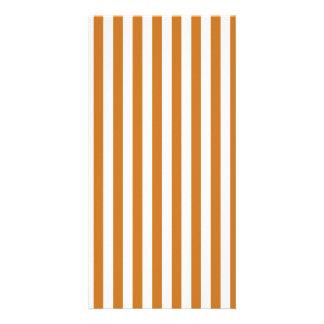 Thin Stripes - White and Ochre Photo Card