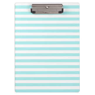 Thin Stripes - White and Pale Blue Clipboard