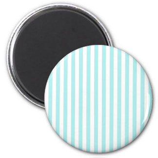 Thin Stripes - White and Pale Blue Magnet