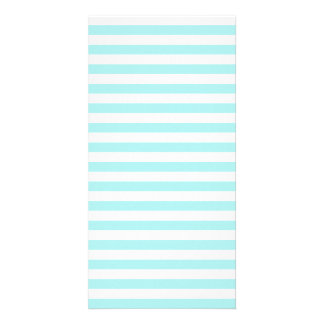 Thin Stripes - White and Pale Blue Photo Card