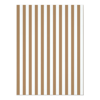 Thin Stripes - White and Pale Brown Card
