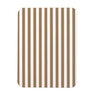 Thin Stripes - White and Pale Brown Magnet
