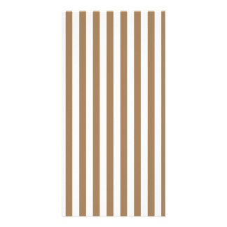 Thin Stripes - White and Pale Brown Photo Greeting Card