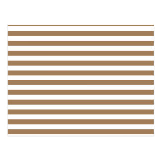 Thin Stripes - White and Pale Brown Postcard